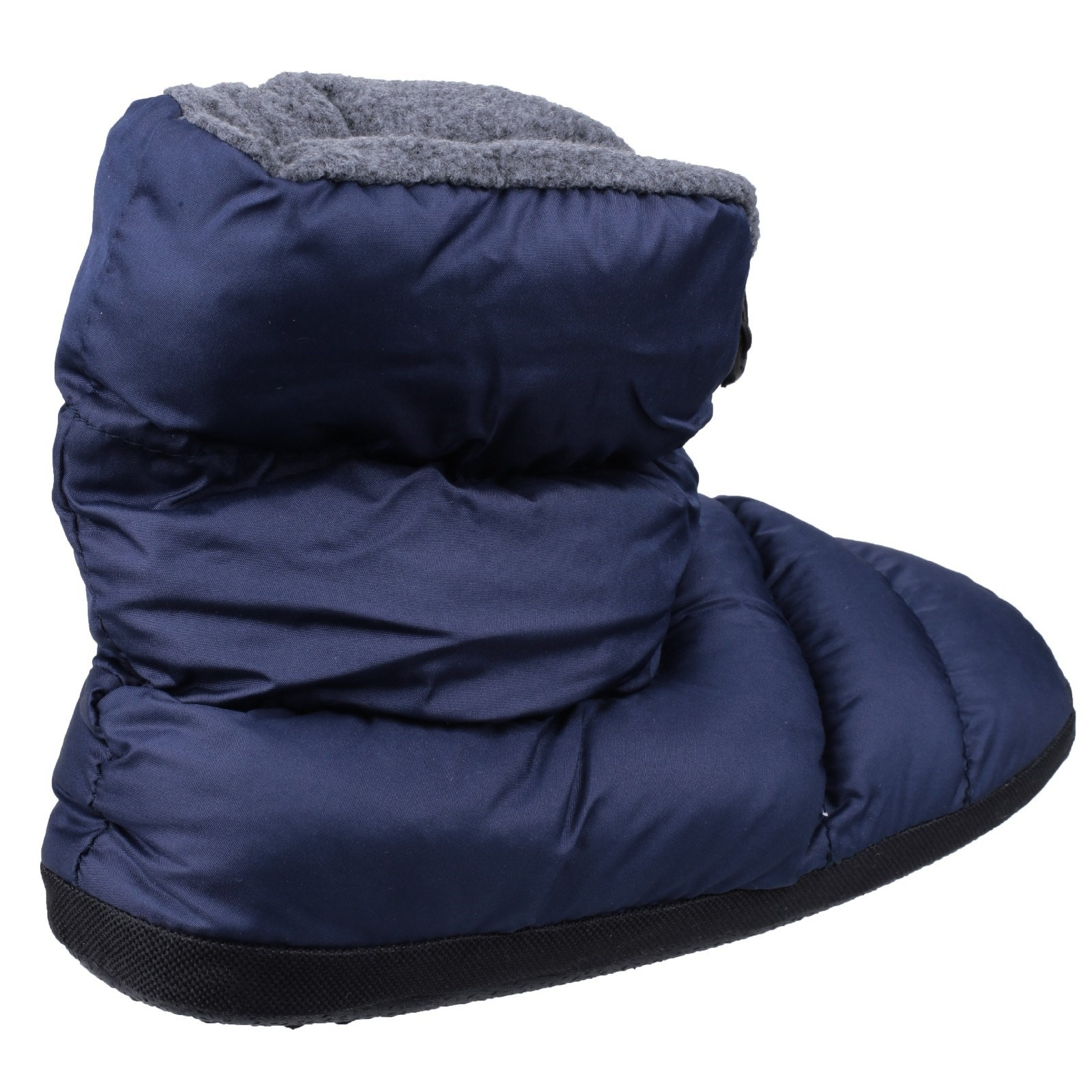 Cotswold CAMPING Mens Pull On Comfort Warm Faux Fur Camping Boot Slippers Navy
