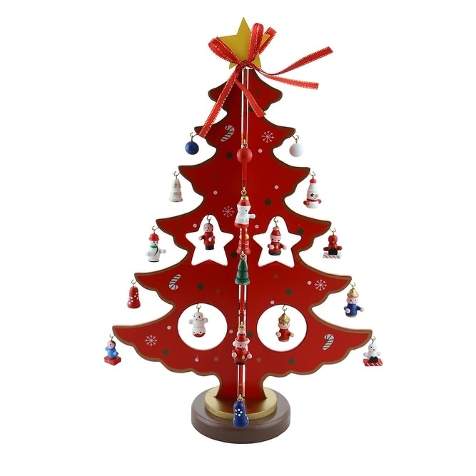 Three Star Decorated Christmas Tree With Little Ornaments