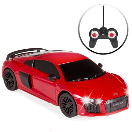 Best Choice Products 1/24 Scale Officially Licensed RC Audi R8 Luxury Sport Remote Control Car w/ Lights, 27MHz Frequency -