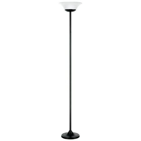 Globe Electric Hale 72u0022 15W Matte Black Integrated LED Floor Lamp, 12791