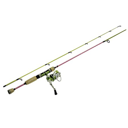 Fish Skins Rainbow Trout Combo 6', 2pc Rod, 5.2:1 Gear Ratio, Light (Best Reel For Trout Fishing)