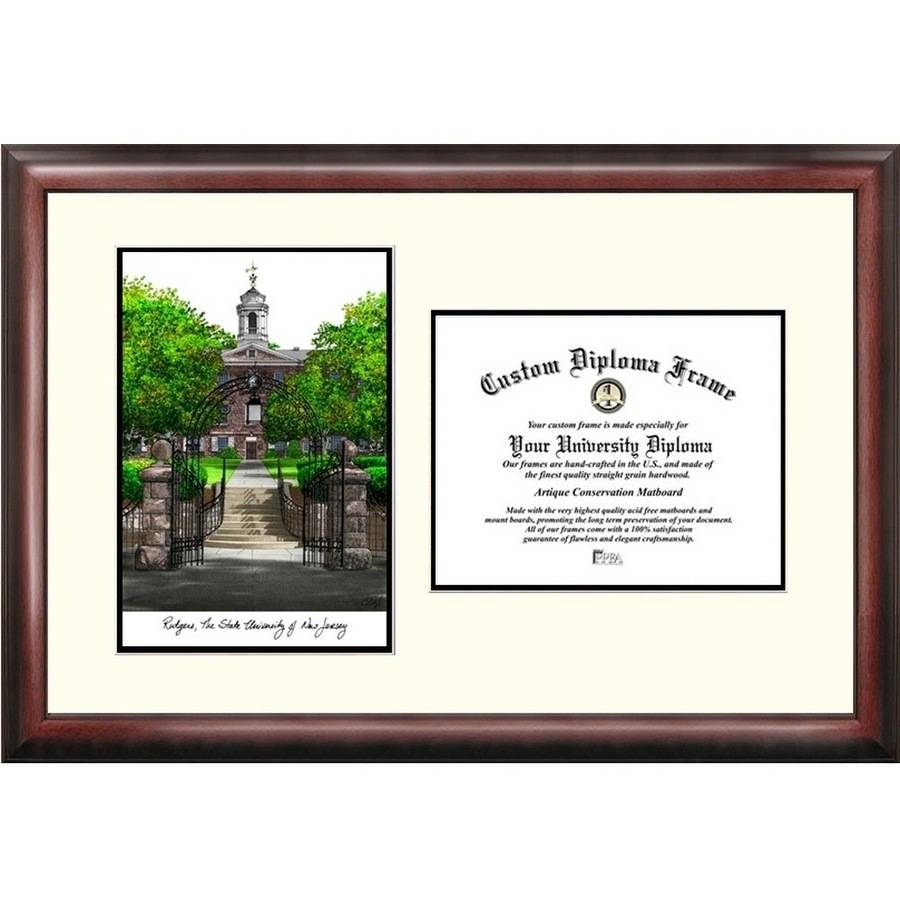 "Rutgers University, The State University of New Jersey, 8.5"" x 11""Scholar Diploma Frame"