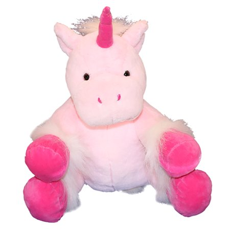 Cuddly Soft 16 inch Stuffed Pink Unicorn....We stuff 'em...you love 'em! - Unicorn Valentine