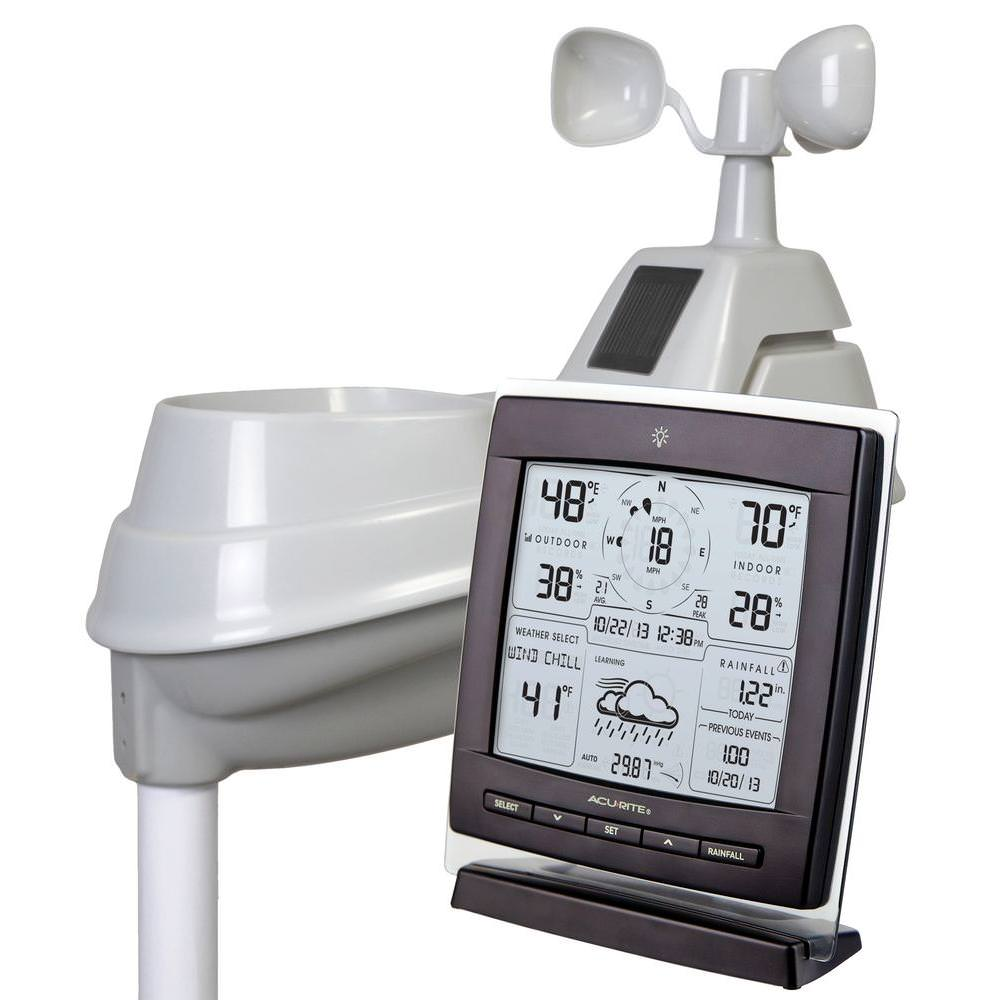 Acurite 01524 Pro 5-in-1 Weather Station with Wind and Rain by Chaney Instrument Co