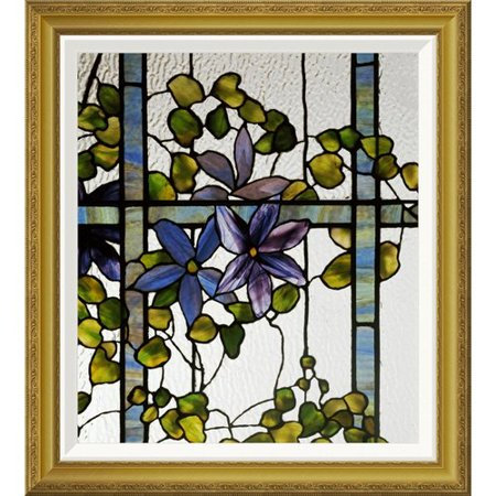 Global Gallery 'Detail of a Clematis' by Tiffany Studios Framed Painting Print