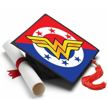 Wonder Woman Grad Cap Tassel Topper - Graduation Caps Decorated