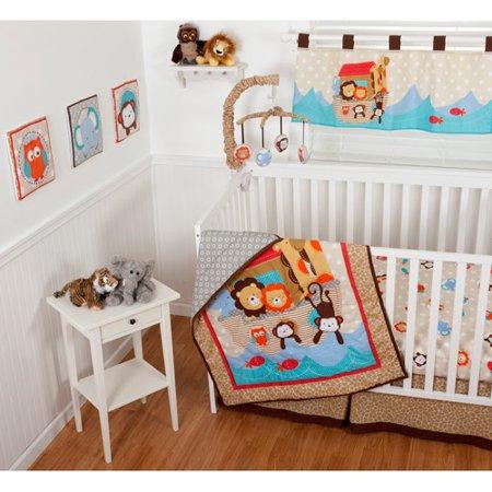 Sumersault Noah S Ark 10 Piece Nursery In A Bag Crib
