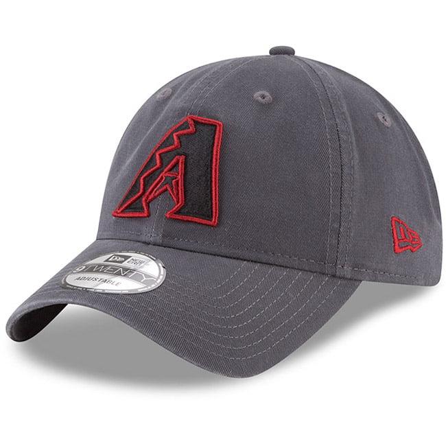 Arizona Diamondbacks New Era Primary Logo Core Classic 9TWENTY Adjustable Hat - Graphite - OSFA