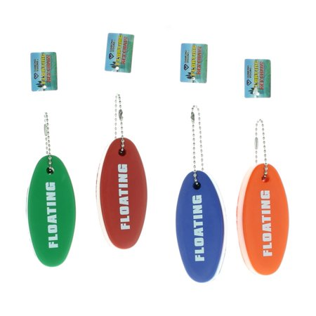 Lot of 4 Foam Floating Key Chains Diamond Visions Red Blue Green and Orange Red Buckeyes Keychain