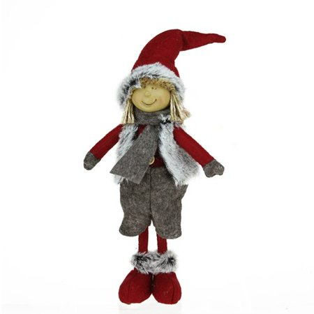 Faux Tabletops - Northlight Seasonal Young Boy Gnome in Faux Fur Vest Christmas Tabletop Decoration