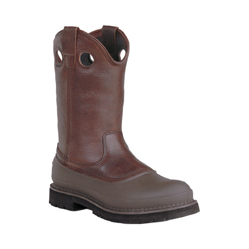 "Men's Georgia Boot G56 12"" Safety Toe Pull On MUDDOG Comfort Core by Georgia Boot"