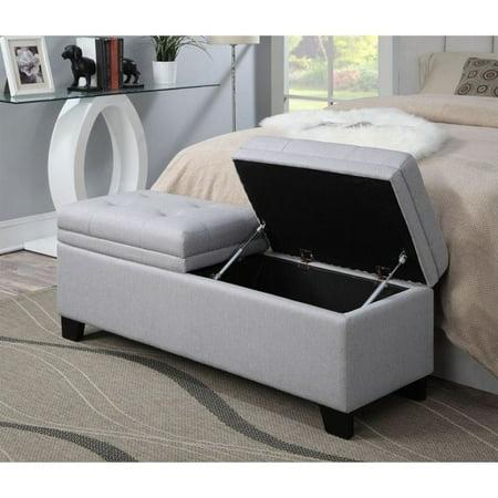 PRI Upholstered Storage Bedroom Bench in Trespass Marmor
