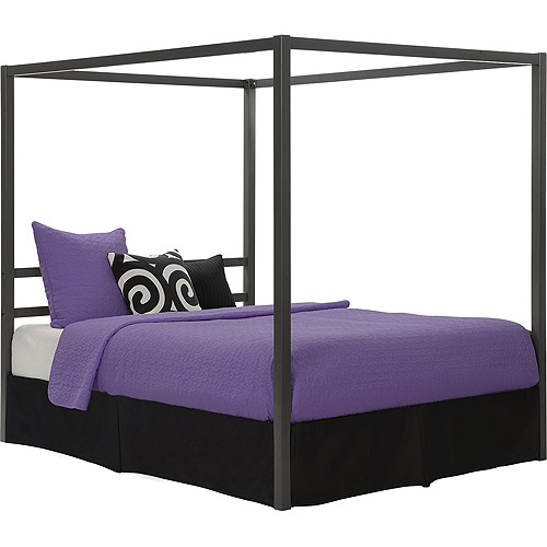 DHP Modern Canopy Metal Bed, Multiple Colors, Multiple Sizes