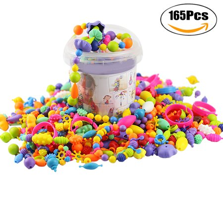 165pcs Snap Beads Creative Diy Jewelry Making Toy Pop For Bracelets Necklaces Developmental
