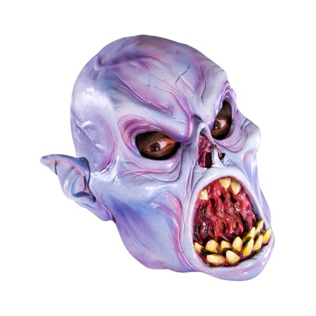 Adult's Evil Scary Zombie Vampire Vinyl Costume Mask (Funny Scary Masks)