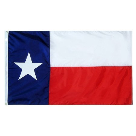 G128 Texas State Flag 150D Quality Polyester 3x5 ft Printed Brass Grommets Flag Indoor/Outdoor - Much Thicker and More Durable than 100D and 75D - Texas Falg
