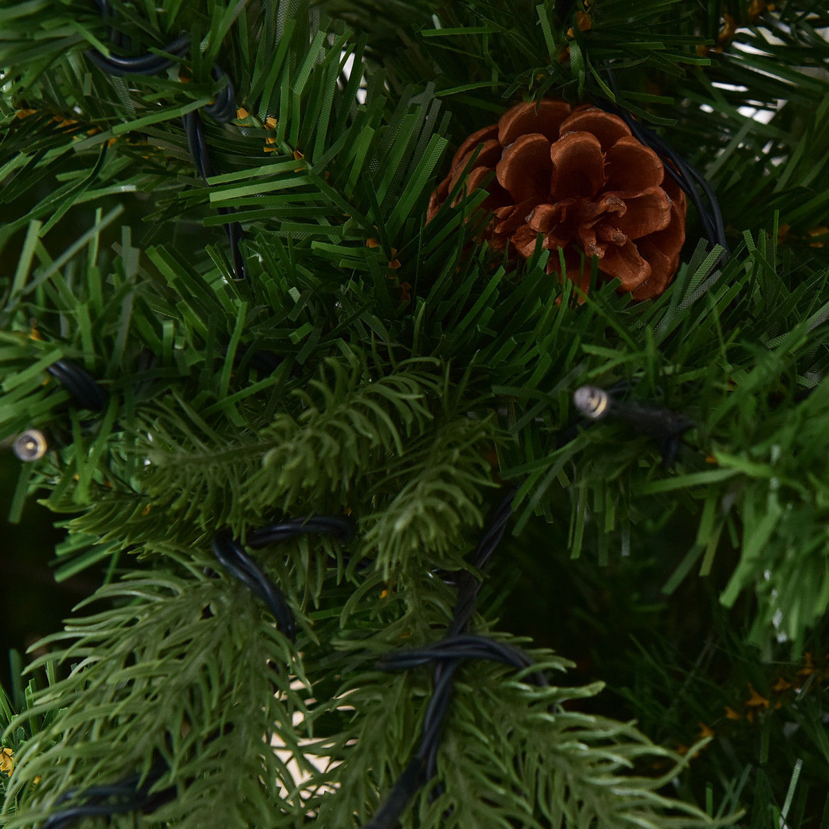 7Ft Pre-Lit Artificial Christmas Tree Hinged w/ 460 LED Lights & Pine Cones - image 5 de 7