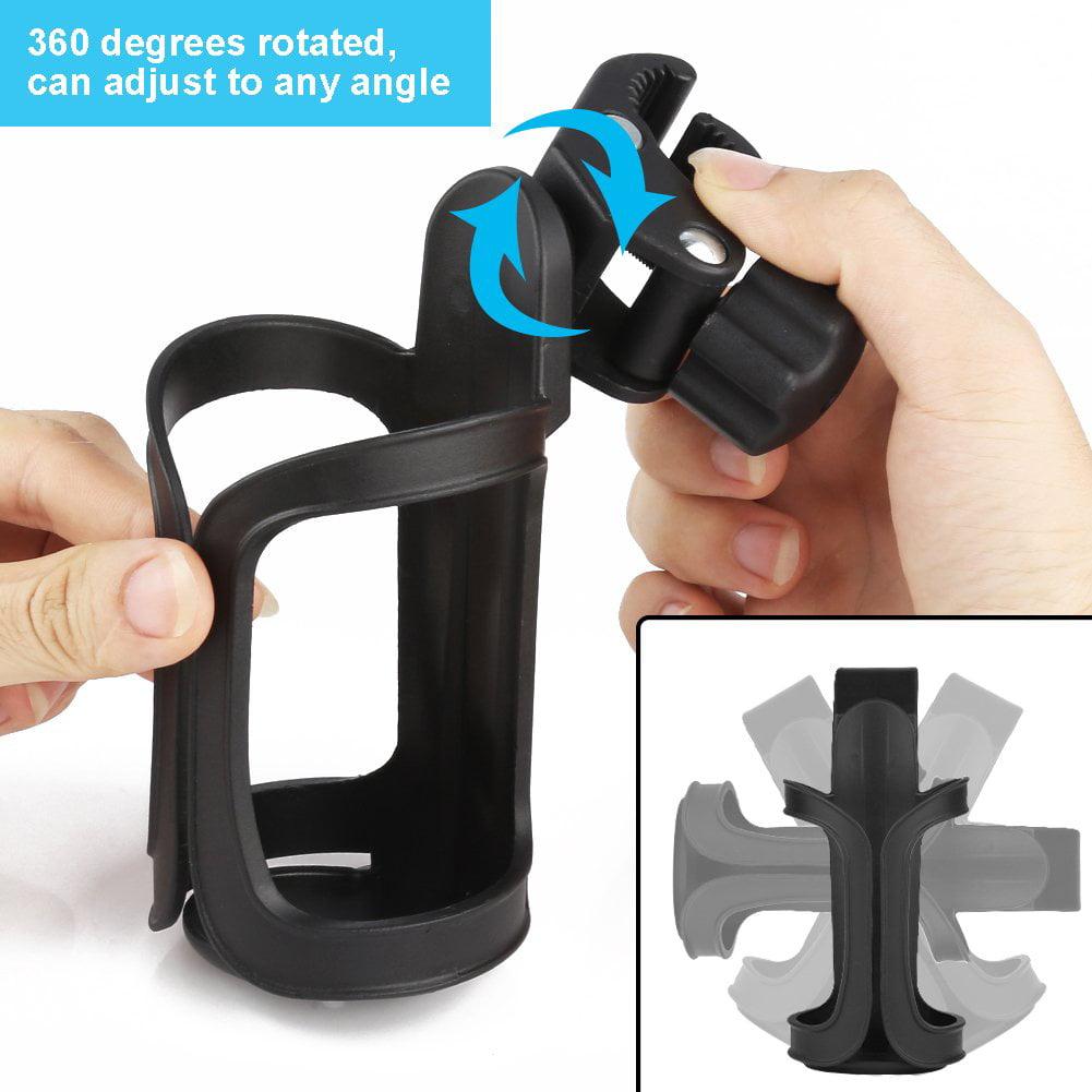 360°Rotation Baby Stroller Pram Cup Holder Universal Bottle Coffee Drink Stander