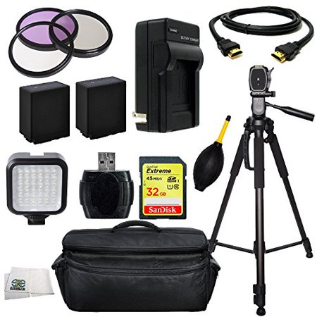 Professional Accessory Package For Panasonic AG-AC130APJ AVCCAM HD Professional HD Camcorders Includes 3 Piece Filter Kit (UV-CPL-FLD) + SanDisk Extreme 32GB SDHC + High Speed Memory Card Reader + 2 E
