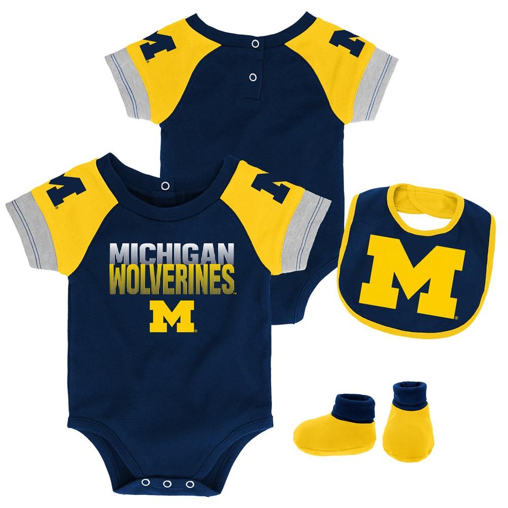 Infant University Of Michigan Wolverines Creeper Set Baby Snapsuit