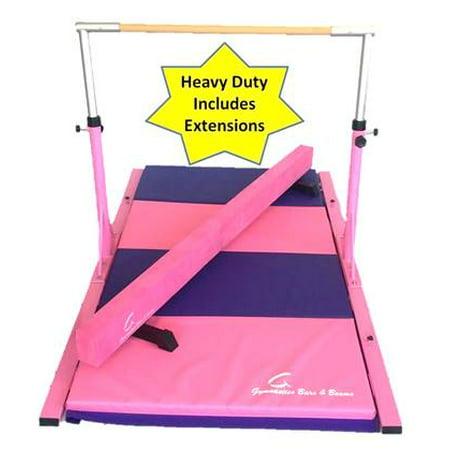 Gymnastics Equipment Set-Pink Bars, Pink Beam and Pink-Purple (Gymnastic Set)