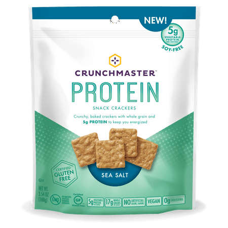 Rebels Snack - Crunchmaster Sea Salt Protein Snack Cracker 3.54oz (PACK OF 12)