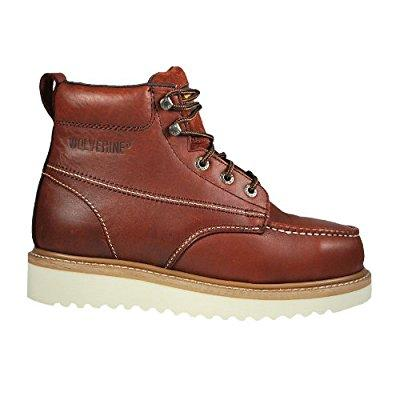 wolverine men's moc steel toe wedge
