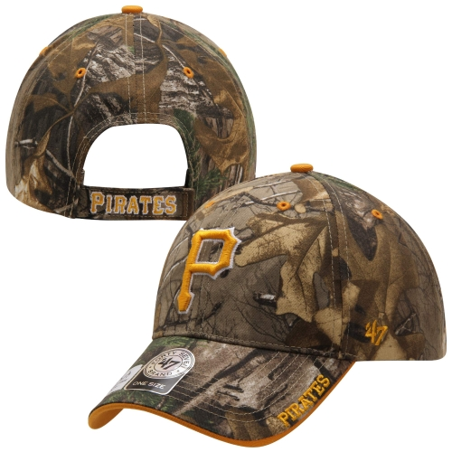 Pittsburgh Pirates '47 Brand Frost Adjustable Hat - Realtree Camo - OSFA