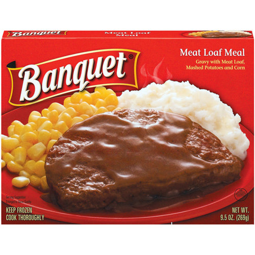 Banquet Gravy w/Meat Loaf, Mashed Potatoes And Corn Meal, 9.5 oz