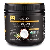 Nutiva organic mct powder with prebiotic acacia fiber, vanilla, 10.6 ounce