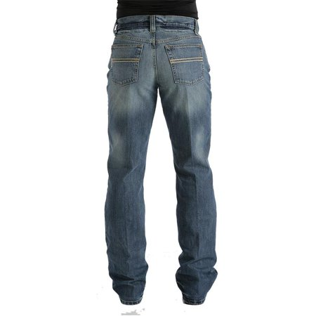 Cinch Mens Carter Relaxed Fit Bootcut Jean - Medium Stonewash ()