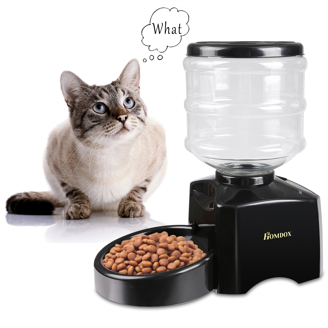 Large Automatic Pet Feeder 5.5 Liter  Dog Cat Dry Food Po...