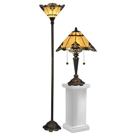 (Dale Tiffany Brena Table Lamp and Floor Lamp)