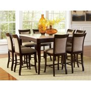 Marseille 5-Pc Counter Height Dining Set in Dark Cherry Finish