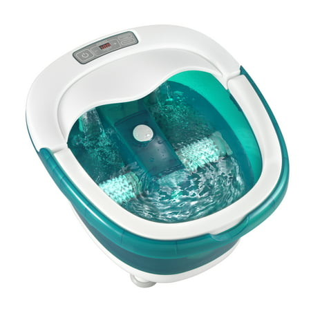 HoMedics Deep Soak Footbath With Poweroll Massage And True Heat Boost Power,