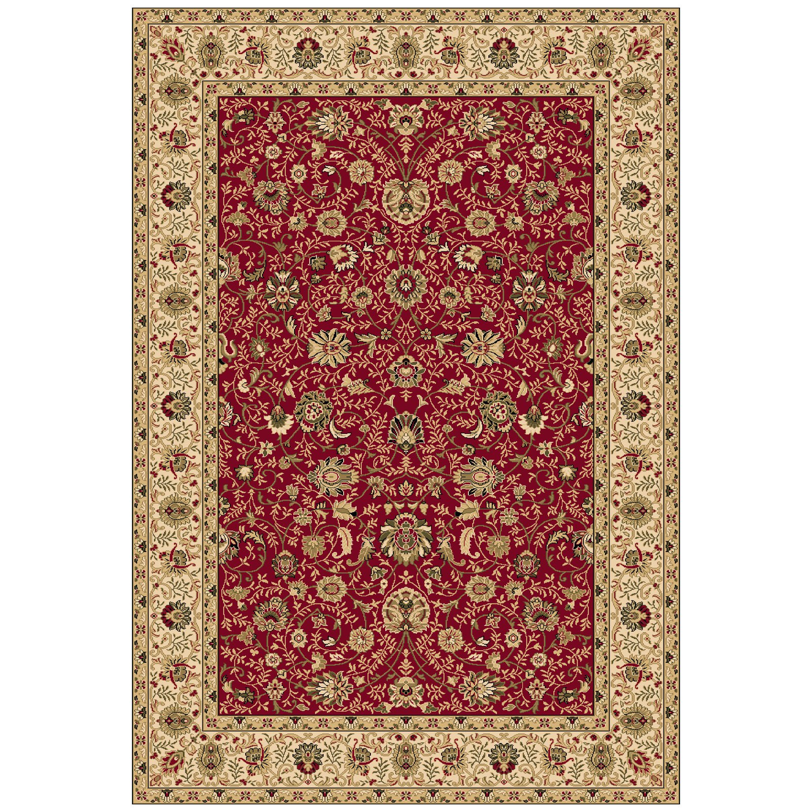 Dynamic Rugs Shiraz 51007 Symman Persian Rug - Red
