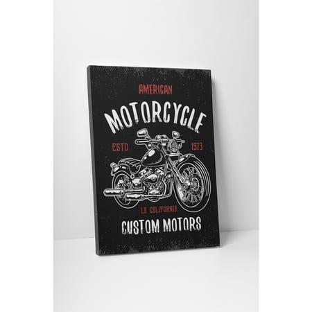 Pingo World Motorcycle Pop Art 'Custom Motors' Gallery Wrapped Canvas Wall Art 20 x 16 Custom Pop Art Canvas