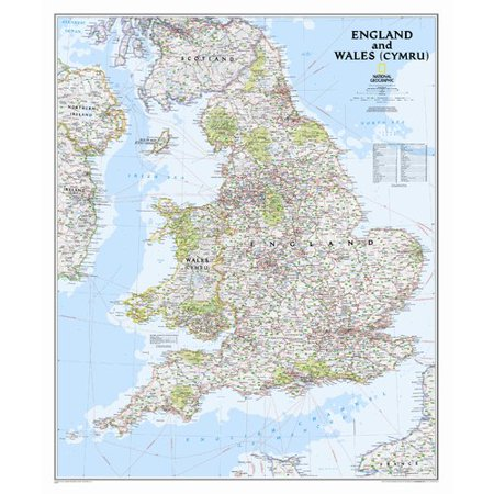 Map Of England Over Usa.National Geographic Maps England And Wales Classic Wall Map 36 X 30