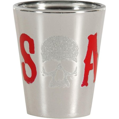 Sons of Anarchy Glitter Skull Logo Shot - Sons Of Anarchy Shop