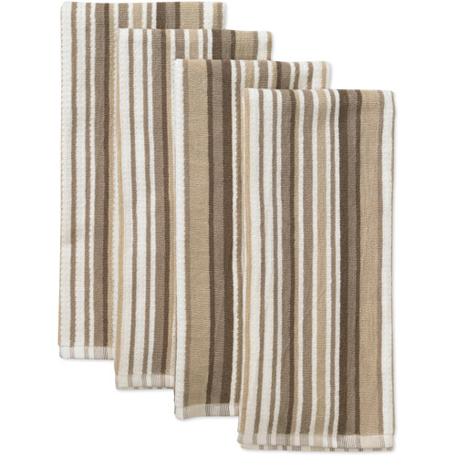 sc 1 st  Walmart & Canopy 4-Pack Oversized Striped Kitchen Towel Set - Walmart.com