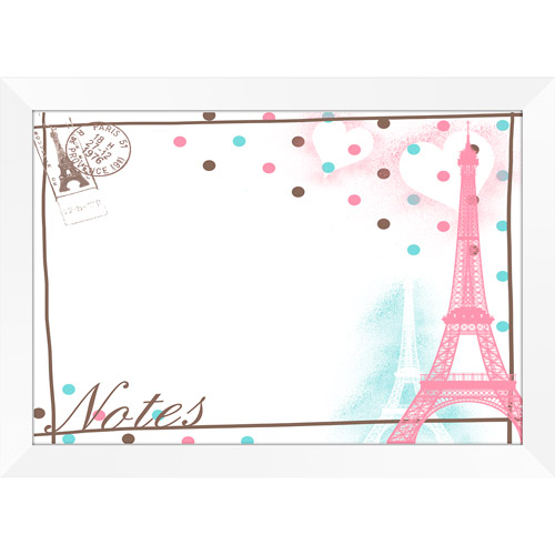 Pink Paris Notes Whiteboard