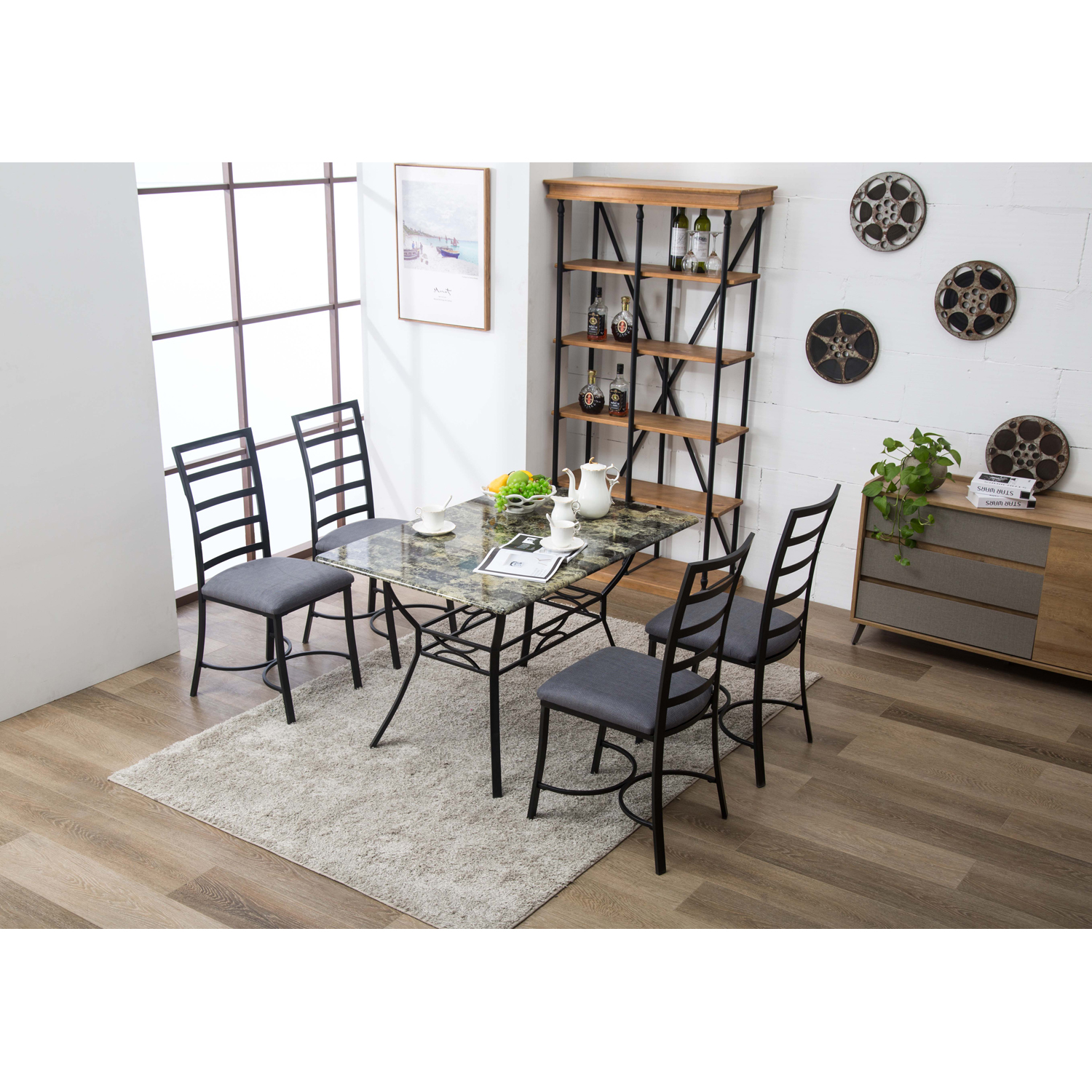 Boraam Bastian 5 Piece Dining Set