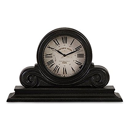 IMAX 16130 Mantle Clock, Black