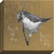 Carpentree Indigo 'Enjoy The Little Things' Painting Print Canvas (Set of 2)