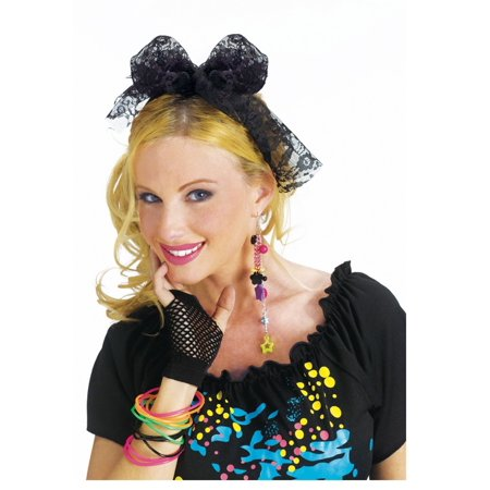 80's Lace Headband (80's Halloween Costume. Blow Up Head)
