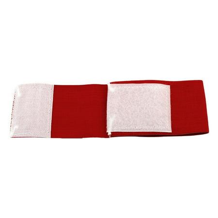 Sports Training Nylon Letter C Print Sleeve Badge Captain Armband Red 2 Pcs - image 1 of 2