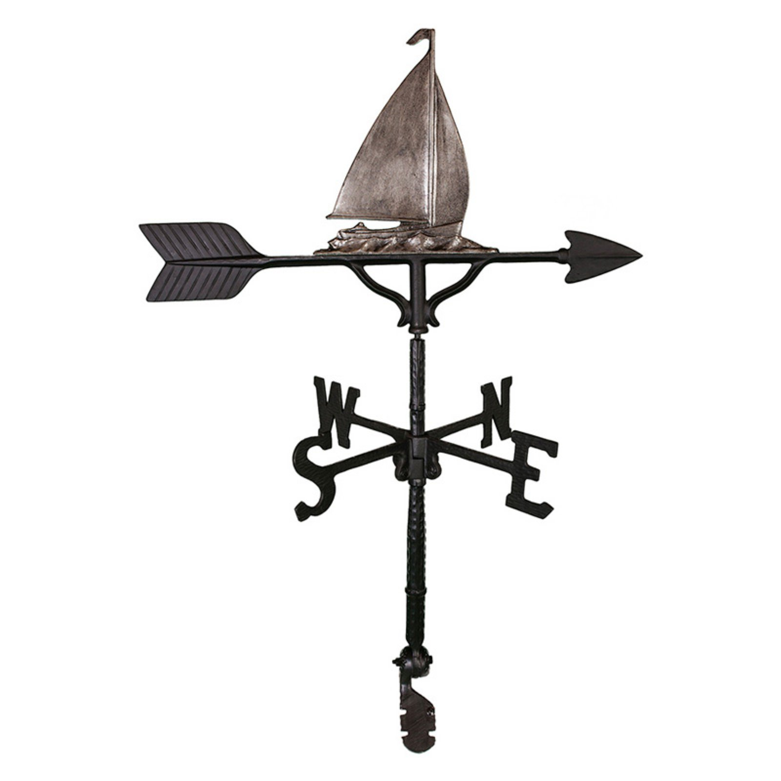 Swedish Iron Sailboat Weathervane 32 in. by Montague Metal Products
