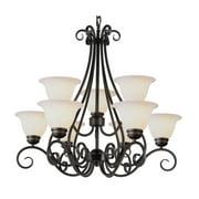 Trans Globe Lighting 6399 9 Light Up Lighting Chandelier from the New Century Co