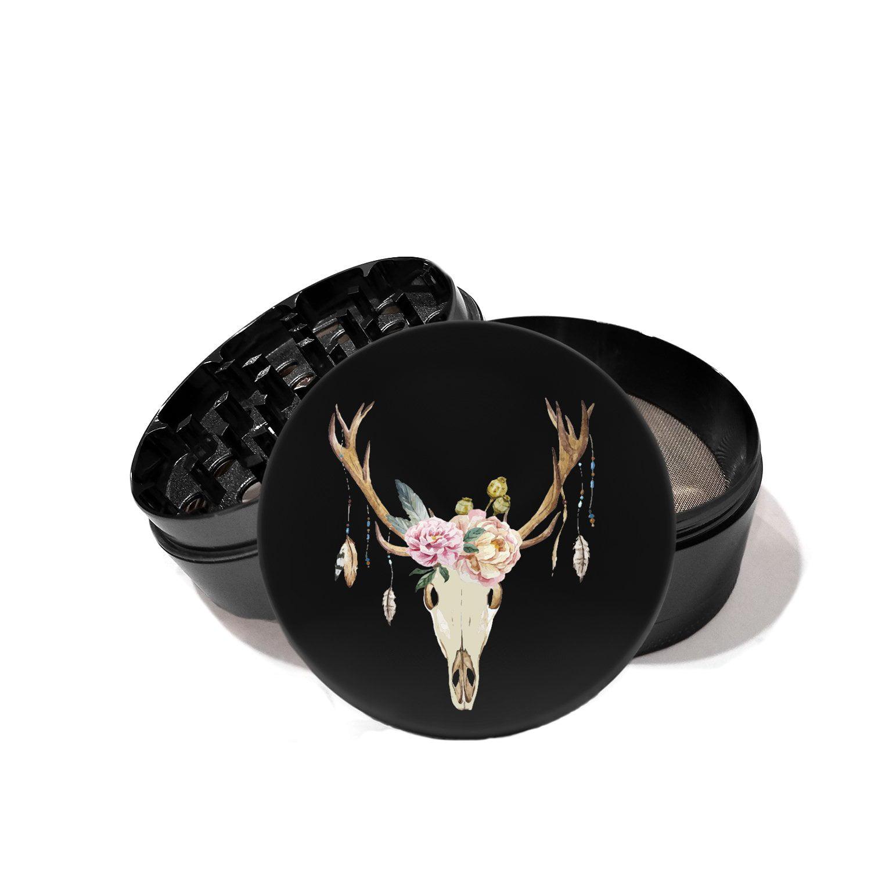 Buffalo Head Feather - UV Printed Grinder