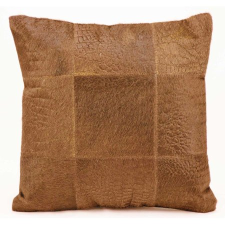 Alligator Pillow (Nourison Natural Leather Hide Alligator Print Amber Throw Pillow )